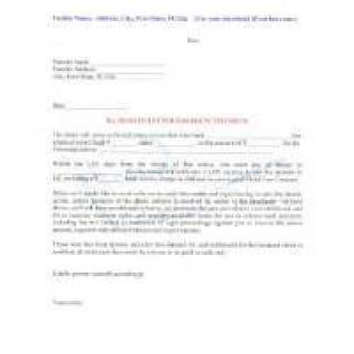 Demand Letter For Bounced Check  Download