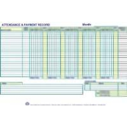 attendance payment record