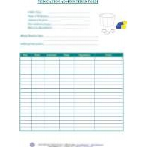 Medication administered form pronofoot35fo Choice Image