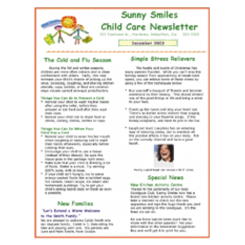 Daycare templates idealstalist daycare newsletter template altavistaventures Image collections