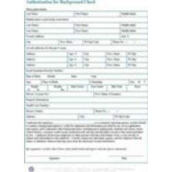 Authorization for Background Check - Download