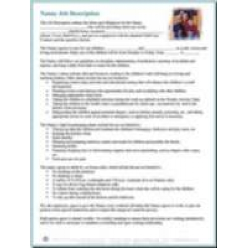 Nanny Job Description - Download