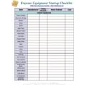 Startup Equipment Checklist - Download