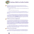 Starting a Child Care Facility Checklist - Download
