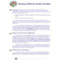 Starting a Child Care Facility Checklist - Download