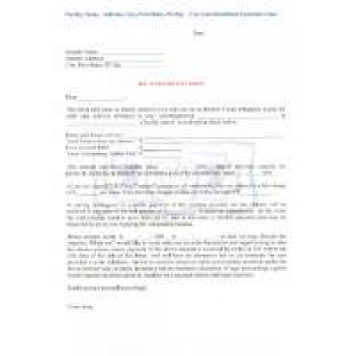 Demand Letter for Past Due Fees Download