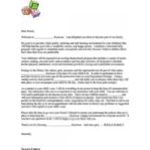 child care letter new child care letter cover letter examples 9621